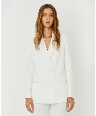 FRIEND of AUDREY - Wren Blazer - Suits & Blazers (White) Wren Blazer