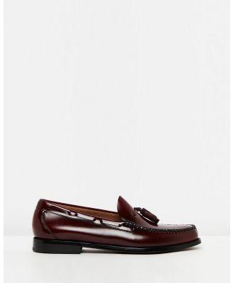 G. H. Bass & Co. - Weejun Larkin Moc Tassel Loafers - Dress Shoes (Mid Brown) Weejun Larkin Moc Tassel Loafers