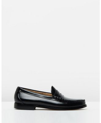 G. H. Bass & Co. - Weejun Larson Moc Penny Loafers - Dress Shoes (Black) Weejun Larson Moc Penny Loafers