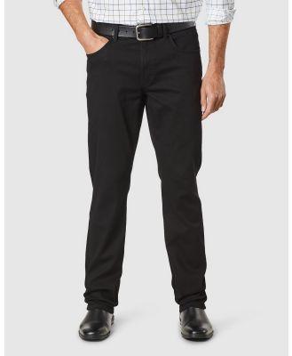 Gazman - Straight Stretch Jeans - Jeans (Washed Black) Straight Stretch Jeans