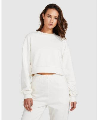 General Pants Co. Basics - Cropped Fleece Jumper - Sweats & Hoodies (OFF WHIT) Cropped Fleece Jumper
