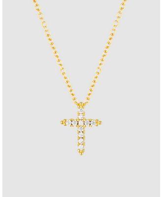 Georgini - Rock Star Cross Gold Pendant - Jewellery (Gold) Rock Star Cross Gold Pendant