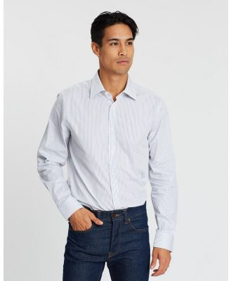 Gieves and Hawkes - Fine Stripe Tailored Fit Shirt - Shirts & Polos (Navy) Fine Stripe Tailored Fit Shirt