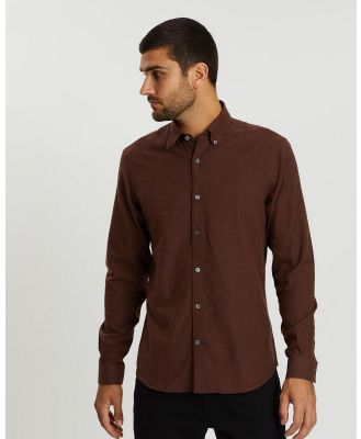 Gieves and Hawkes - Long Sleeve Cotton Shirt - Casual shirts (Orange) Long Sleeve Cotton Shirt