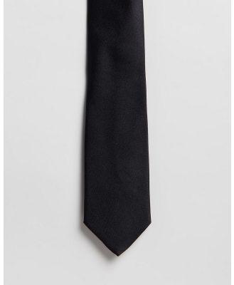 Gieves and Hawkes - Plain Silk Tie - Ties (Black) Plain Silk Tie