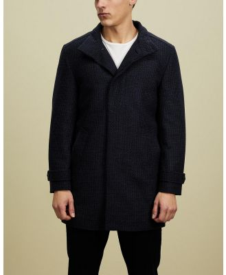 Gieves and Hawkes - Single Breasted Coat - Coats & Jackets (Navy) Single-Breasted Coat