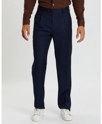Gieves and Hawkes - Virgin Wool Suit Trousers - Pants (Navy) Virgin Wool Suit Trousers
