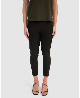 GINIA RTW - Cara Silk Pants - Pants (Black) Cara Silk Pants