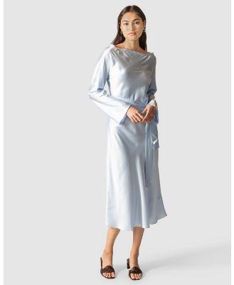 GINIA RTW - Ella Silk Satin Dress - Dresses (Blue) Ella Silk Satin Dress