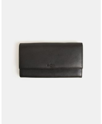 Globite - Leather Travel Clutch with RFID - Travel and Luggage (Black) Leather Travel Clutch with RFID