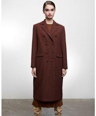 Grace Willow - Dillon Coat - Coats & Jackets (Houndstooth Brown ) Dillon Coat