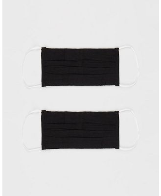 H-WOOD - Non Medical Fashion Face Mask 2 Pack - Wellness (Black) Non-Medical Fashion Face Mask 2-Pack