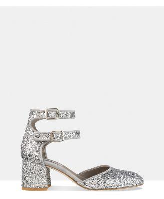 Habbot - Dover Mid heel Pumps - Sandals (Silver) Dover Mid-heel Pumps