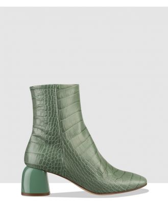 Habbot - Quinto Heeled Ankle Boots - Ankle Boots (Mint) Quinto Heeled Ankle Boots