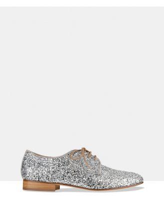 Habbot - Raglin Derby Lace ups - Flats (Silver Glitter) Raglin Derby Lace-ups