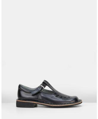 Harrison - Indiana II School Shoes - Flats (Black Hi Shine) Indiana II School Shoes