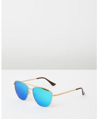 Hawkers Co - Karat Clear Blue Ace - Sunglasses (Clear Blue & Gold) Karat Clear Blue Ace