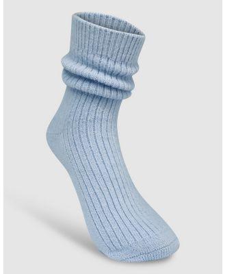 High Heel Jungle - Cashmere Sock - Socks & Tights (Powder Blue) Cashmere Sock
