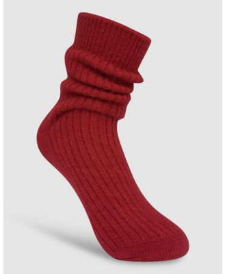 High Heel Jungle - Cashmere Sock - Socks & Tights (Watermelon Red) Cashmere Sock