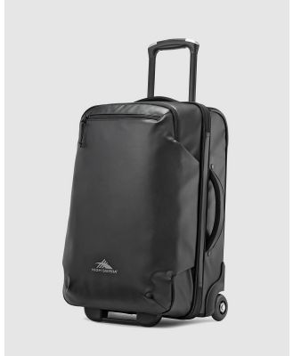 High Sierra - Rossby 56cm Carry On Wheeled Duffle - Duffle Bags (Black) Rossby 56cm Carry-On Wheeled Duffle