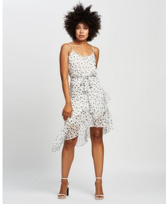 Honey and Beau - Party Dress - Printed Dresses (White Print) Party Dress