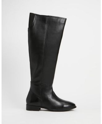 Human Premium - Sloane Knee High Boots - Knee-High Boots (Black Leather) Sloane Knee High Boots