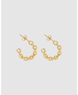 Ichu - Golden Chain Hoops - Jewellery (Gold) Golden Chain Hoops