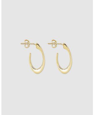 Ichu - Mini Hooked Hoops - Jewellery (Gold) Mini Hooked Hoops