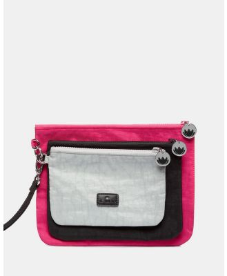 Il Tutto - Ruby Pouch Set x3 - Toiletry Bags (Pink) Ruby Pouch Set x3