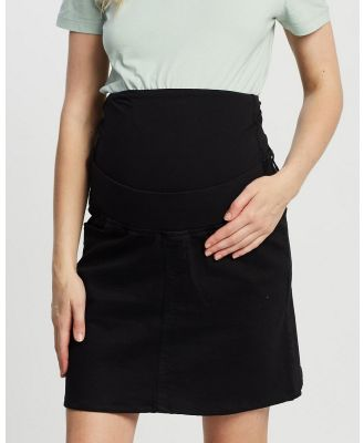 Isabella Oliver - The Denim Maternity Skirt - Denim skirts (Black Wash) The Denim Maternity Skirt