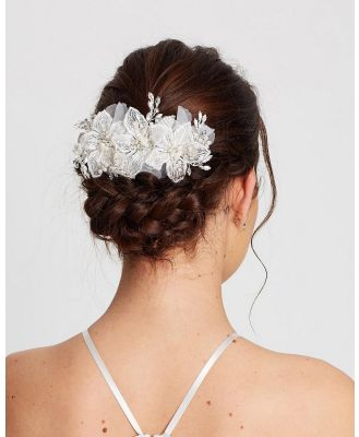 Ivory Knot - Joanna Hair Comb - Hair Accessories (Ivory, Silver & Pearl ) Joanna Hair Comb
