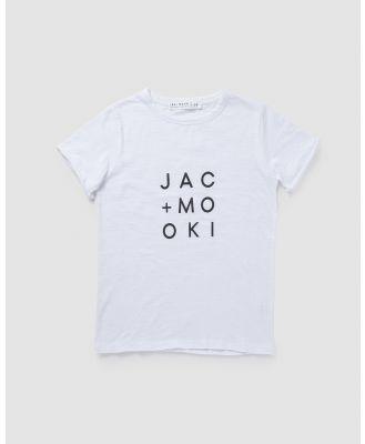 jac & mooki jnr - True Tee - T-Shirts & Singlets (white-black logo) True Tee