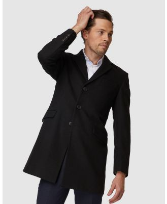 Jack London - Black Topcoat - Coats & Jackets (Black) Black Topcoat