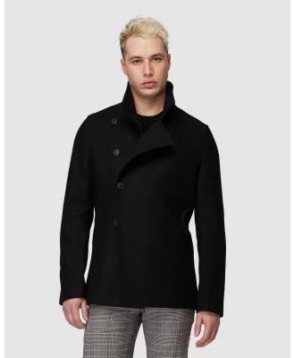 Jack London - Brompton Black Coat - Coats & Jackets (Black) Brompton Black Coat