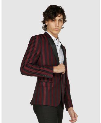 Jack London - Burgundy Stripe Cocktail Jacket - Suits & Blazers (Red) Burgundy Stripe Cocktail Jacket