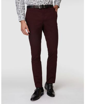 Jack London - Burgundy Super Slim Dress Chinos - Pants (Red) Burgundy Super Slim Dress Chinos