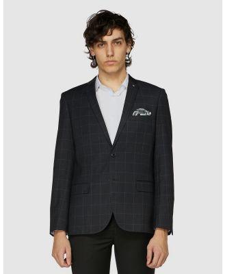 Jack London - Harris Check Blazer - Suits & Blazers (Black) Harris Check Blazer