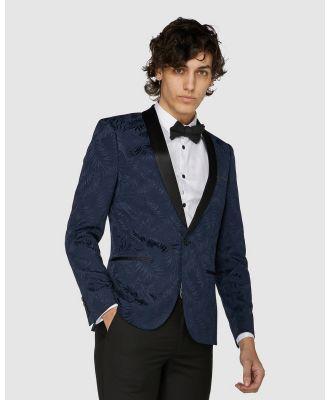 Jack London - Navy Floral Tuxedo Jacket - Suits & Blazers (Blue) Navy Floral Tuxedo Jacket