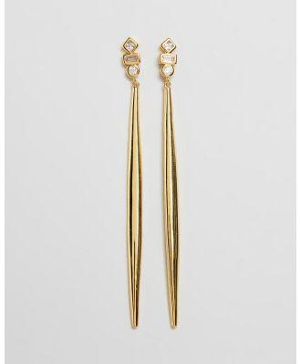 Jackie Mack - Allure Long Earrings - Jewellery (18K Yellow Gold) Allure Long Earrings
