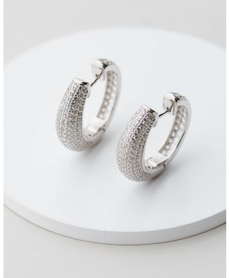 Jackie Mack - Festive Hoops - Jewellery (18K White Gold) Festive Hoops