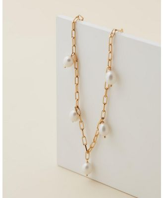 Jackie Mack - Sol Pearl Necklace - Jewellery (18k Yellow Gold Vermeil) Sol Pearl Necklace