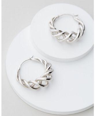 Jackie Mack - Twisted Hoops - Jewellery (18K White Gold) Twisted Hoops