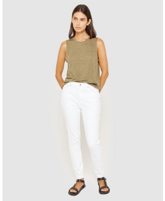 Jag - Rosie High Rise Skinny Jeans - High-Waisted (white) Rosie High Rise Skinny Jeans
