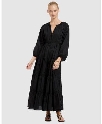 JETS - JETSET Tiered Maxi Dress - Swimwear (Black) JETSET Tiered Maxi Dress