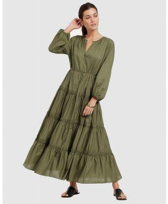 JETS - JETSET Tiered Maxi Dress - Swimwear (Olive) JETSET Tiered Maxi Dress