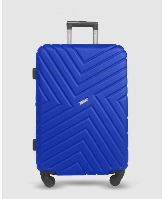 JETT BLACK - Royal Blue Maze Medium Suitcase - Bags (Blue) Royal Blue Maze Medium Suitcase