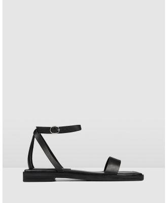 Jo Mercer - Idol Flat Sandals - Sandals (BLACK LEATHER) Idol Flat Sandals