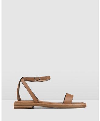 Jo Mercer - Idol Flat Sandals - Sandals (TAN LEATHER) Idol Flat Sandals