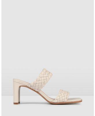 Jo Mercer - Nico Mid Heel Sandals - Mid-low heels (BONE LEATHER) Nico Mid Heel Sandals