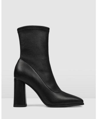 Jo Mercer - Perla High Ankle Boots - Boots (BLACK LEATHER) Perla High Ankle Boots